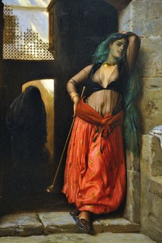 The Almeh (with pipe) 1873 - Jean Leon Gerome