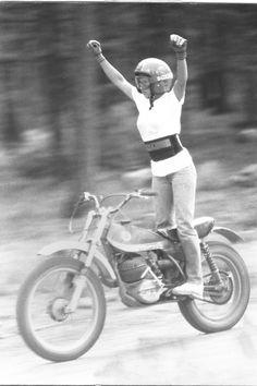 Bultaco Sherpa circa 74 - Motorcycle woman winner                                                                                                                                                                                 More