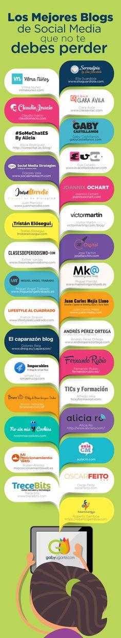 30 blogs sobre Social Media que no te debes perder #infografia #infographic #socialmedia