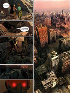 Richard Marazano (Author) / France and Xiao Shang (Illustrator) / China Comic Book Artists, Comic Books Art, Comic Art, Comic Book Layout, Comic Frame, Graphic Novel Art, Comic Kunst, Bd Comics, Comic Panels
