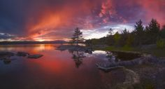 https://flic.kr/p/Kr8rBt | The Arc | Panorama from a local lake, Ringerike, Norway.
