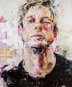 Le peintre Andre Salgado réalise ces portraits en utilisant des bombes de peintures. [Via]