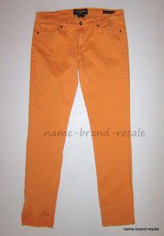 LUCKY BRAND Charlie Skinny Jeans Womens 14 32 Regular Peach Orange Denim #LuckyBrand #CharlieSkinny