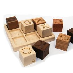 Tic Tac Toe Wooden Game Toy  organic wood by littlesaplingtoys, $26.00