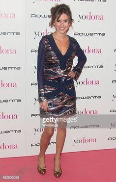 """Marina San José en la fiesta de """"Yo Dona Mercedes Benz Madrid Fashion Week"""" con zapatos de Hispanitas."""
