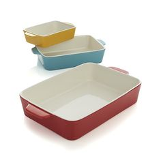 Set of 3 Potluck Baking Dishes | Crate and Barrel $29.95