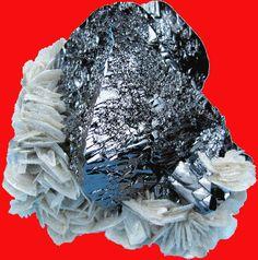 Cassiterite and muscovite, Xuebaoding, Huya, Pingwu, Sichuan, China.gif