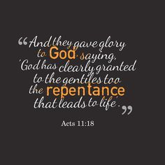 Acts 11:18