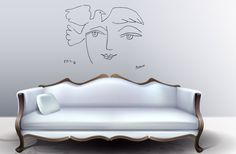 "Wall Art inspired by Picasso's ""Le Visage de la paix"" vinyl wall decal - removable wallpaper for your livingroom and bedroom wall art decor par cutnpasteshop sur Etsy https://www.etsy.com/fr/listing/120963626/wall-art-inspired-by-picassos-le-visage"