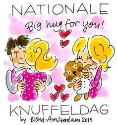 Nationale knuffeldag blond Amsterdam