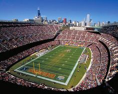 Home to the Chicago Bears, Soldier Field is located along Lake Michigan on the Museum Campus. With a capacity of Soldier Field also holds a number of soccer games, concerts & other big events. Chicago Bears Stadium, Chicago Football, Sports Stadium, Bears Football, Sports Teams, Sports Pics, Stadium Tour, Sports Images, Baseball