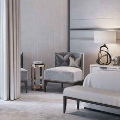 Classic, neutral bedroom