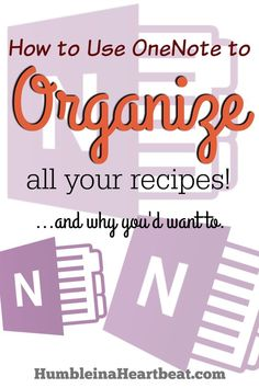 Are all your recipes floating around without much organization? How about getting them all in one place so you never have to search for your favorite Chocolate Chip Cookie recipe ever again? Here's how to use Microsoft OneNote for getting your recipes organized so you can search less and cook more!