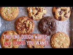 Crazy Cookie Dough: One Cookie Recipe with Endless Variations! - YouTube
