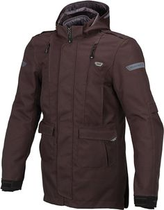 Macna Harvard Jacket in brown, waterproof outer plus thermal inner core, two jackets in one. New for 2015.