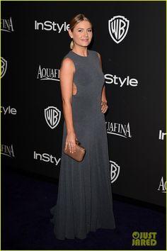 Maggie Q & Boyfriend Dylan McDermott Heat Up InStyle's Golden Globes 2015 After Party!