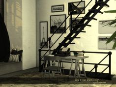 My tribute loft home, dedicated to Wondymoon's objects and aesthetic. Found in TSR Category 'Sims 4 Residential Lots'
