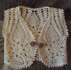 Hand Knitting Tutorials: Crochet vest for girls - Free Pattern