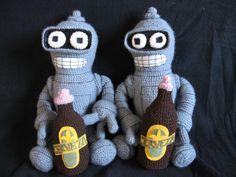 crocheted baby bender [Futurama]