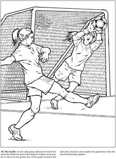 The Soccer Coloring Book, Arcady Roytman. Welcome to Dover Publications Sports Coloring Pages, Coloring Pages For Girls, Coloring For Kids, Coloring Books, Colouring, Spanish Teaching Resources, Youth Center, Gaming Tattoo, Free Kick