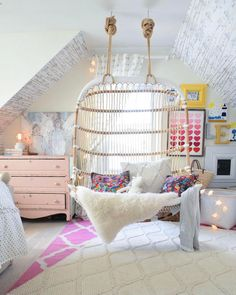 Dreamy Kids Retreat, Courtesy Of Nesting With Grace Double Hanging Chair  Via Serena U0026 Lily. Cute Girl Bedroom ...