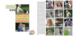 Two-Page Layout Strategy: Pair a Simple Grid with One-Page Design  Vicki Hibbins   Get It Scrapped