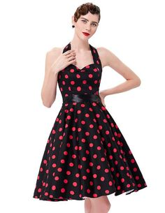 Belle Poque Summer Womens Dresses 2017 Casual Polka Dot Retro Vintage robe  Rockabilly Swing Pinup Party Dress Plus Size e4e579103a0b