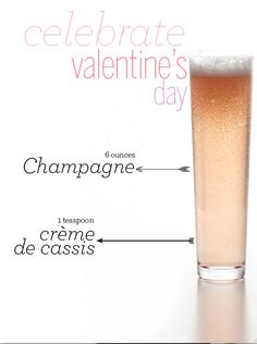 A perfectly pink, two-ingredient cocktail that's perfect for Valentine's Day!