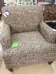Iu0027d have to choose between cow and leopard. Couldnu0027t do both! Leopard or cheetah  print chair