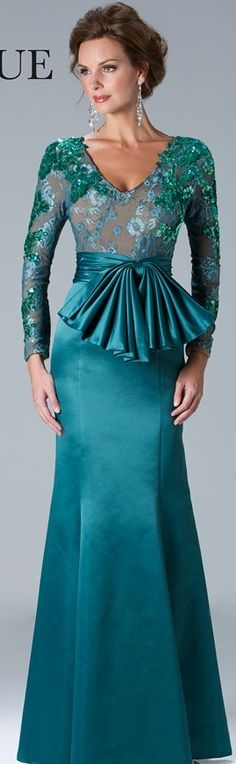 Janique Couture #long #formal #dress #emerald