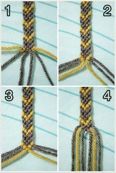 Friendship bracelet in arrow design, pictures and tut - macrame + bracelets - . - Friendship bracelet in arrow design, pictures and tut – macrame + bracelets – - Diy Bracelets With String, Diy Bracelets Easy, Bracelet Crafts, Macrame Bracelets, Ankle Bracelets, Macrame Knots, Loom Bracelets, Micro Macrame, Making Yarn Bracelets