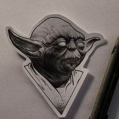And another star wars flash ! #tattooing #tattoos #tattoo #tatted #tattooflash #flashtattoos #flash #starwars #yoda #blackandwhite #blackwork #blackworker #blackworktattoo #blxckink #weirdo #weird #bioorganic #surrealism