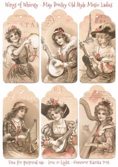 Wings of Whimsy: May Bowley Old Style Music Ladies