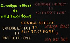 Create a grunge effect to any font :)