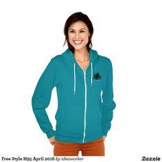 Free Style H95 Women's American Apparel Flex Fleece Zip Hoodie (Color: Mermaid Green)   #design #fashion #freestyle #women #hoodiejacket