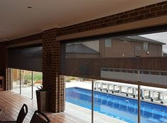 Outdoor Blinds Melbourne made with factory direct range. Suppliers & installers of weatherproof outdoor alfresco, patio & external blinds with Zipscreen selection. Outdoor Blinds, Home Renovation, Melbourne, Things To Come, Diy Projects, Shades, Windows, Patio, Decorating