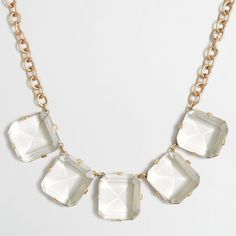 J.Crew Factory crystal cube necklace ($28) ❤ liked on Polyvore featuring jewelry, necklaces, j crew jewelry, crystal jewellery, j.crew necklace, crystal jewelry and crystal necklace
