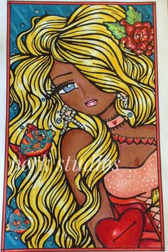 """""""Kissy Fish"""" from Hannah Lynn Enchanted Faces pocket-sized coloring book. Colouring, Adult Coloring, Coloring Books, Coloring Pages, Hannah Lynn, Black Angels, Color Pencil Art, Mermaid Art, Cellphone Wallpaper"""