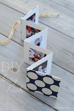 DIY Mother's Day Brag Book ~ folds up so cute!