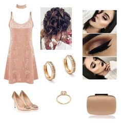 """""""Champagne"""" by mhussain6 on Polyvore featuring Manolo Blahnik and Anna Sheffield"""