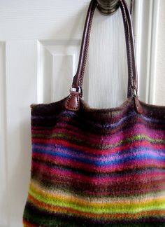 Ravelry: Felted Tote with Kureyon Scraps pattern by Janet D. Russell