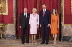 Princess Letizia - Spanish Royals Receive the General Governor of Australia Quentin Bryce at The Royal Palace