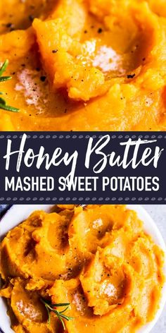 Honey Butter Mashed Sweet Potatoes are an easy and delicious side dish for Thanksgiving, Christmas or whenever you crave a hearty, healthy veggie addition at dinner. Ready in less than 30 minutes and full of delicious flavors, this is sure tobe a hit on the holiday table. | #thanksgivingrecipes #healthyrecipes #easyrecipes