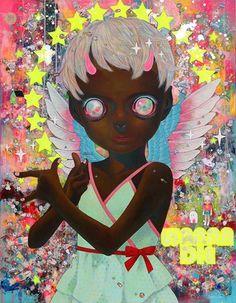 "beautifulbizarremagazine:     Inside Beautiful Bizarre Magazine issue 018, Hikari Shimoda's ""I Do Not Know My Enemy (Girl)"" [Mixed media] . Discover the best new contemporary art and photography, shop Beautiful Bizarre Magazine in print or digital today > beautifulbizarre.net/product/issue-018/    #beautifulbizarre #beautifulbizarremagazine #artmagazine#indiemagazine #art #newcontemporaryart #contemporaryart #art#painting #popsurrealism #portrait #surrealism #figurativeart"