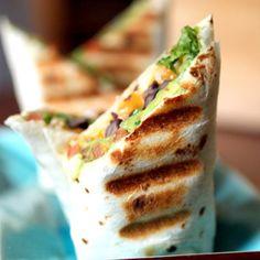 Black Bean and Guacamole Burrito- skip the cheese and make it vegan!