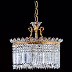 Baccarat Crinoline Chandelier, 15 Light  Handcrafted full-lead crystal made in France... $70,500.00