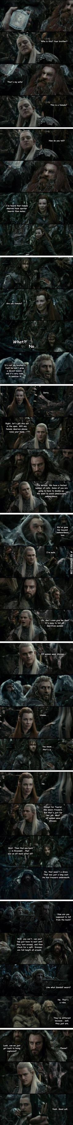 The Hobbit and gender. This is my favorite ever XD