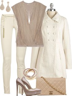 """Winter White"" by averbeek on Polyvore"