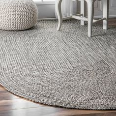 Wade Logan Braided Handmade Hand-Braided Gray/Off-White Indoor/Outdoor Area Rug Rug Size: Oval x Outdoor Area Rugs, Decor, Indoor Outdoor Area Rugs, Rugs, Rug Gallery, Braided Rugs, Oval Rugs, Indoor Rugs, Area Rugs