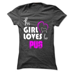 girl loves her pug - LE